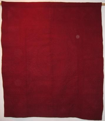 2001-8-E maroon and mustard wholecloth
