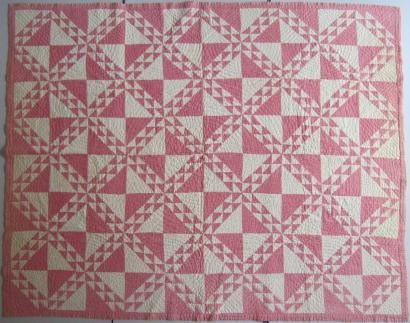 2011-2-A  red and white block patchwork