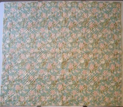 2014-1-A Welsh floral wholecloth