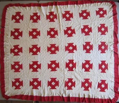 2011-6  red and white patchwork